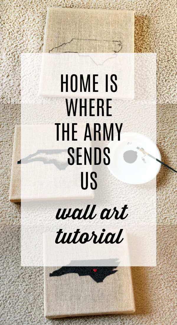 home is where the army sends us wall art tutorial
