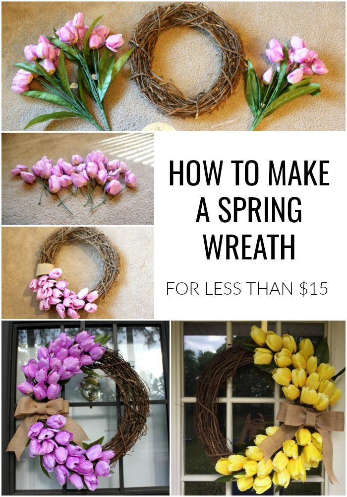 how to make a spring wreath using tulips