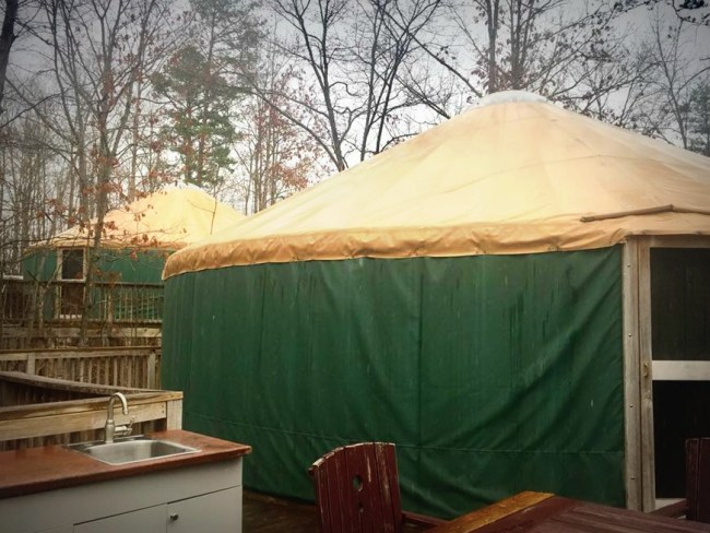 yurts at Shenandoah Crossing