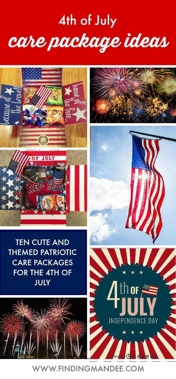 4th of July Care Package Ideas | Finding Mandee | A round-up of 10 cute, themed, patriotic care packages for the 4th of July