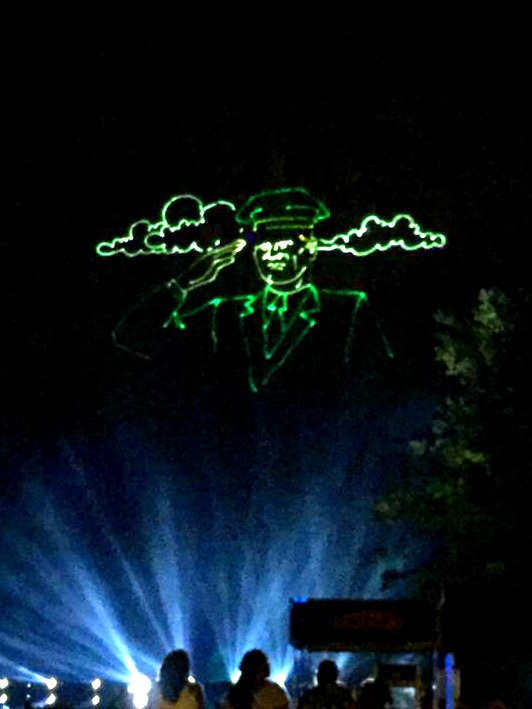 Make sure you watch the free laser show while you are camping at Stone Mountain.