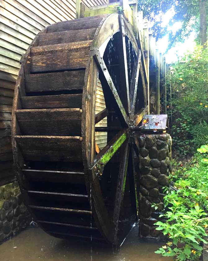 Don't miss the gristmill and waterwheel at Gillis Hill Farm.