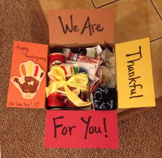 Thanksgiving Care Package Idea: We Are Thankful for You