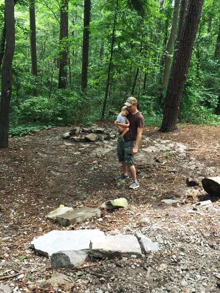 Our campsite at Stone Mountain, Georgia.