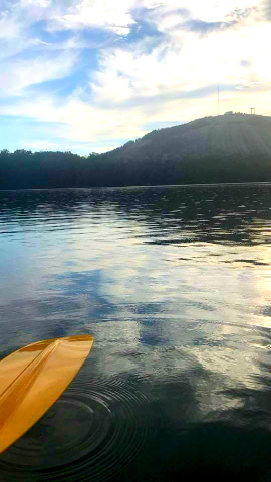 Free things to do at Stone Mountain, GA: Kayak in the lake.