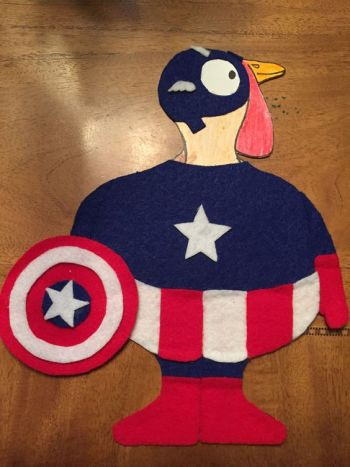 Turkey Disguise: Captain America