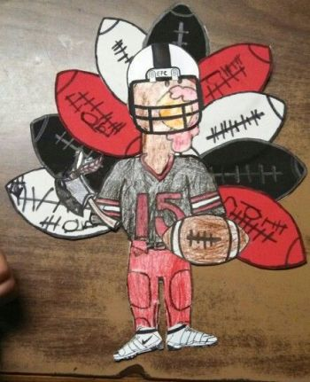 Turkey Disguise: Football Player