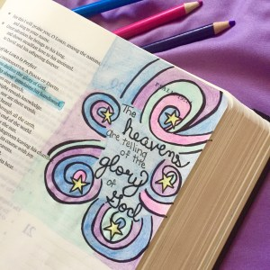 A corner doodle in my journaling Bible.