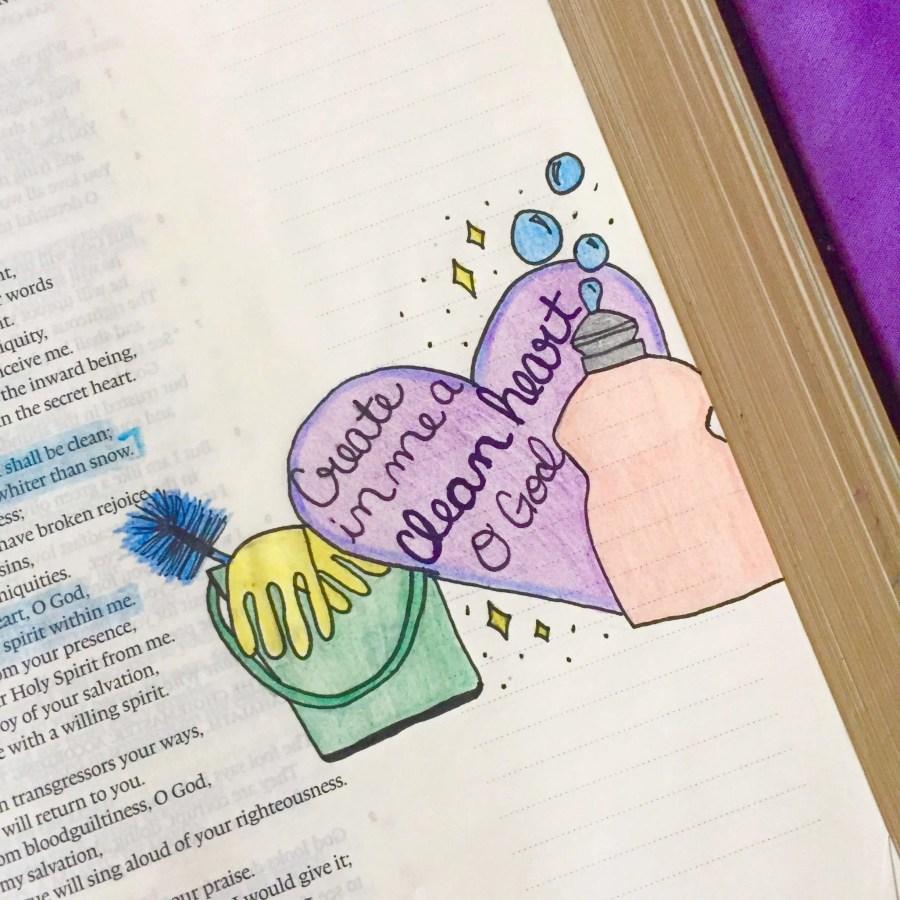 A little Bible art.
