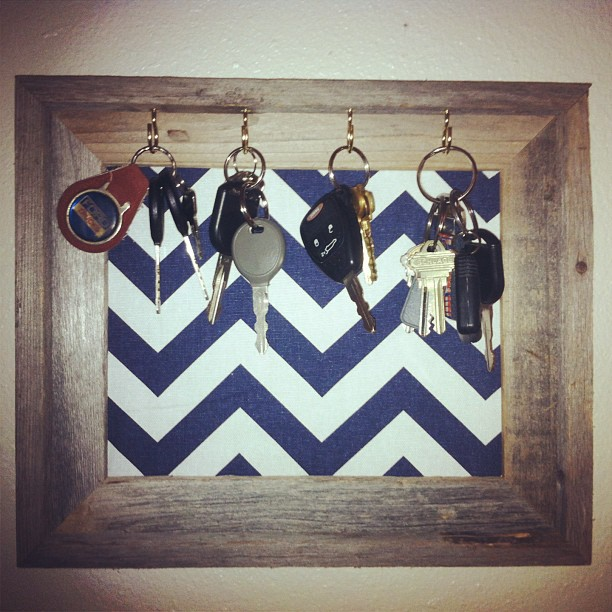 This key holder was a quick and easy DIY project.