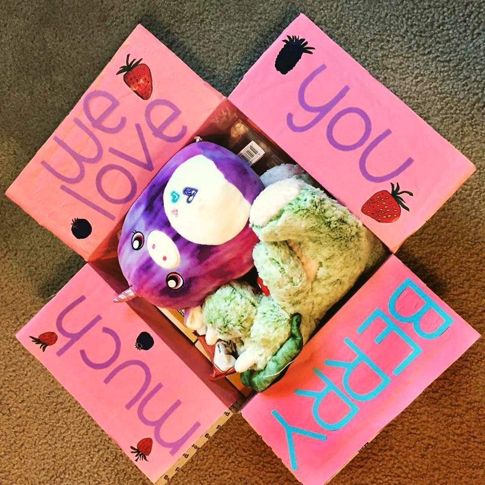 Valentine's Day care package for kids