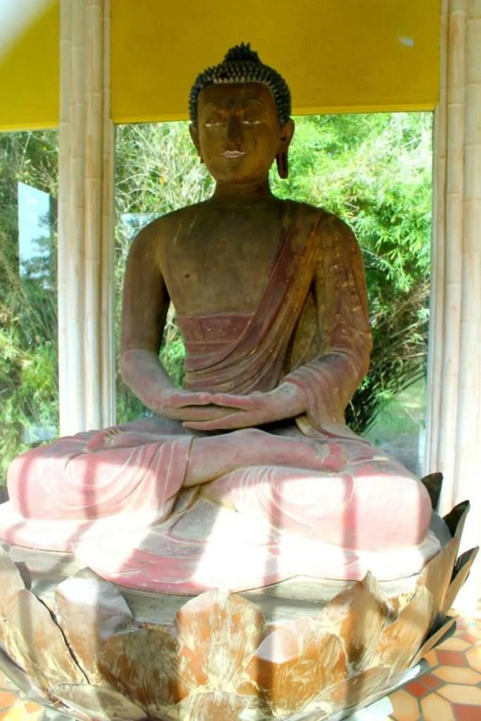 The 900-year-old Buddha statue at Jungle Gardens in Louisiana.