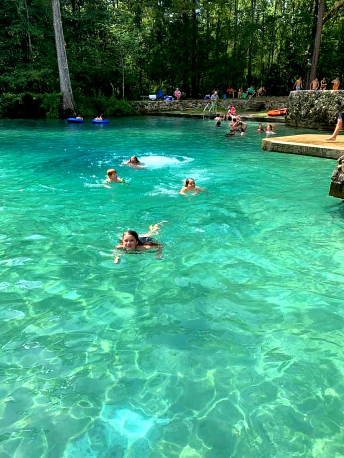 Swimming at Ponce de Leon in Northwest Florida