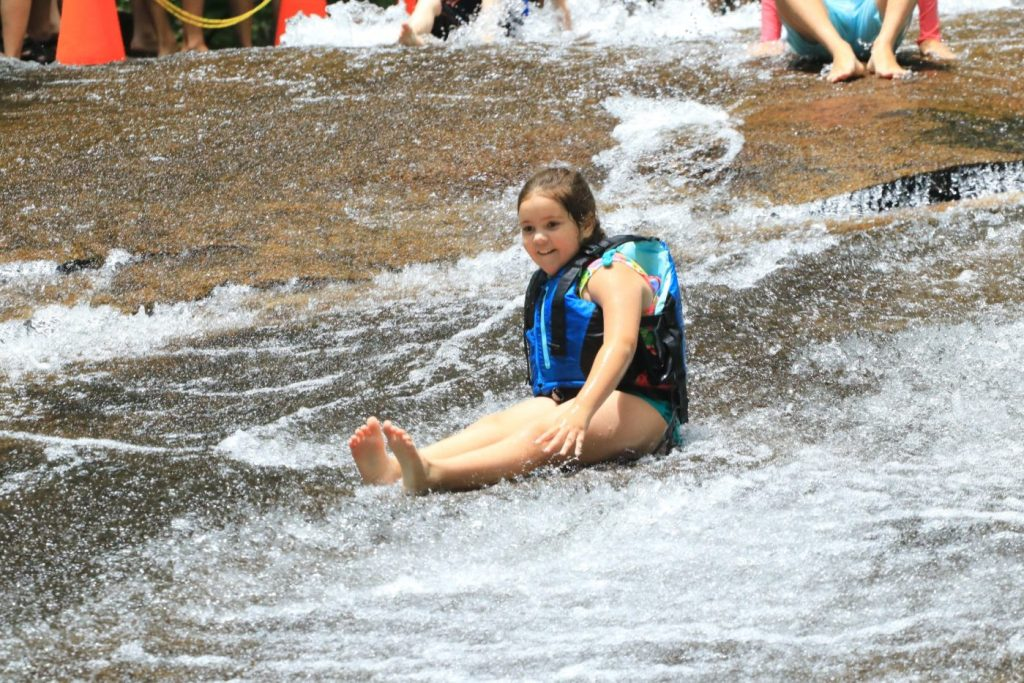 One of many trips down Sliding Rock in the Pisgah National Forest of North Carolina.