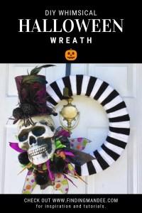 DIY Whimsical Halloween Wreath Tutorial | Finding Mandee
