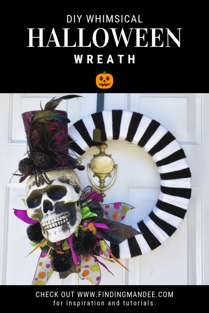 DIY Whimsical Halloween Wreath Tutorial | Finding Mandee