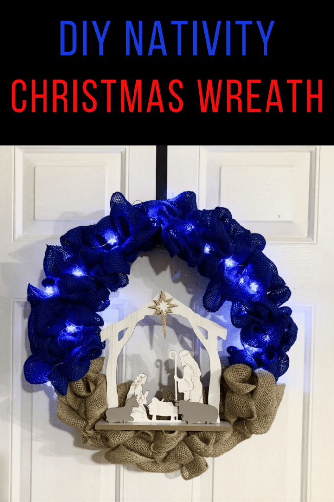 Cheap and Easy DIY Nativity Wreath | Finding Mandee
