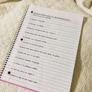 my reverse bucket list
