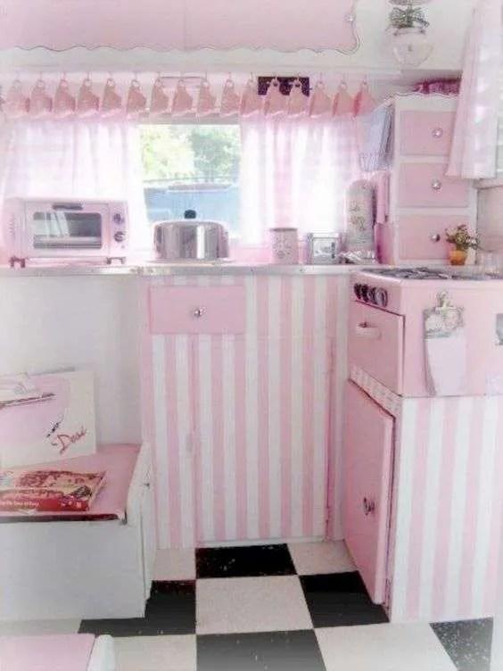 Retro camper interiors