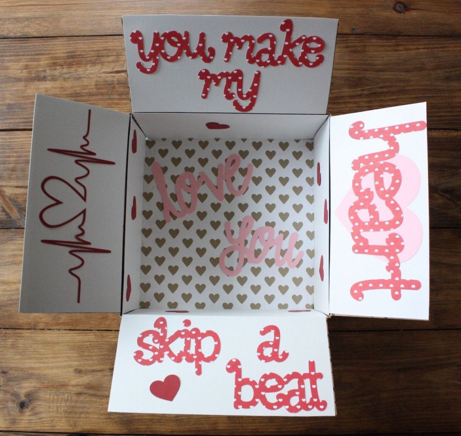 You make my heart skip a beat: Valentine's Day care package