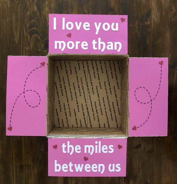 I love you more than the miles between us care package.