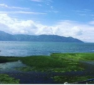 The gorgeous Lake Yojoa in Honduras.