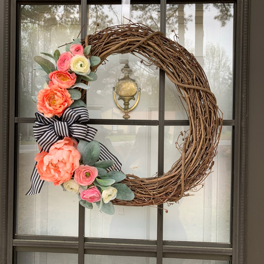 Peony wreath for front door.