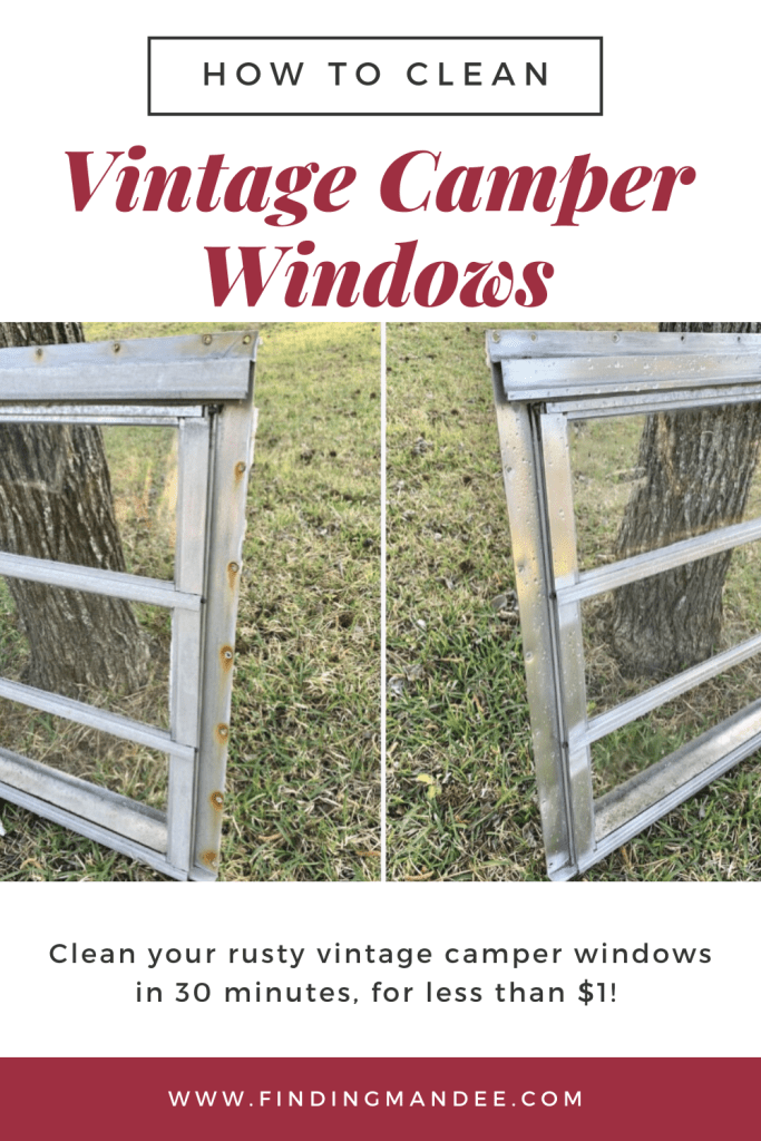 How to Clean Vintage Camper Windows | Finding Mandee