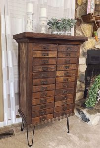How to refurbish a vintage hardware cabinet.