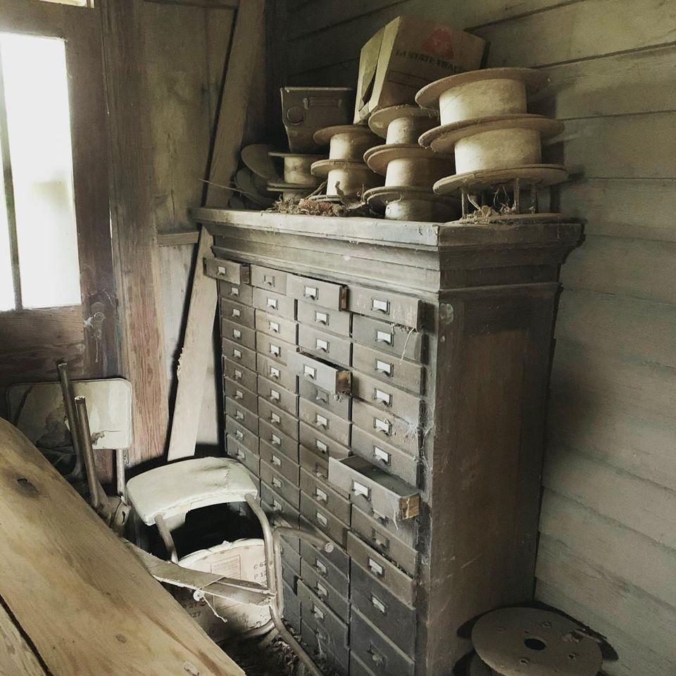 How we refurbished this vintage hardware cabinet.