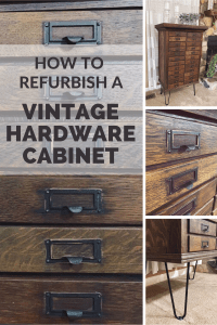 How to Refurbish a Vintage Hardware Cabinet | Finding Mandee