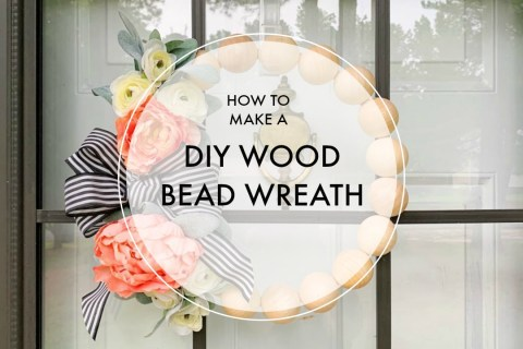 How to Make a DIY Wood Bead Wreath