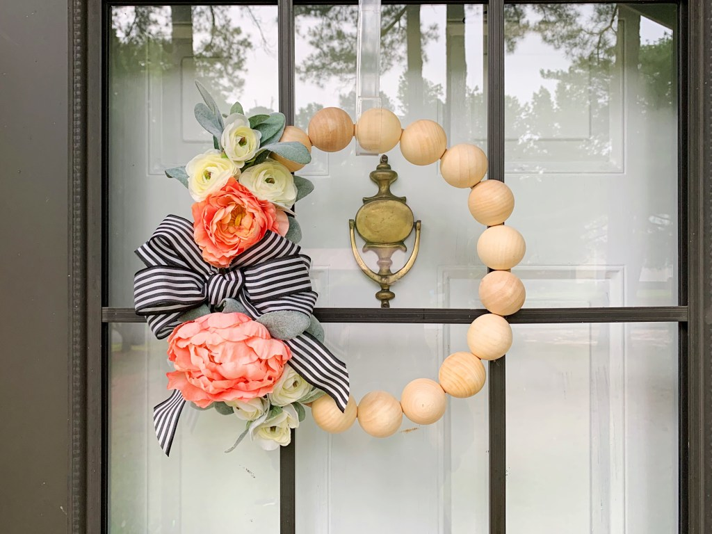 How to Make this DIY Wood Bead Wreath | Finding Mandee