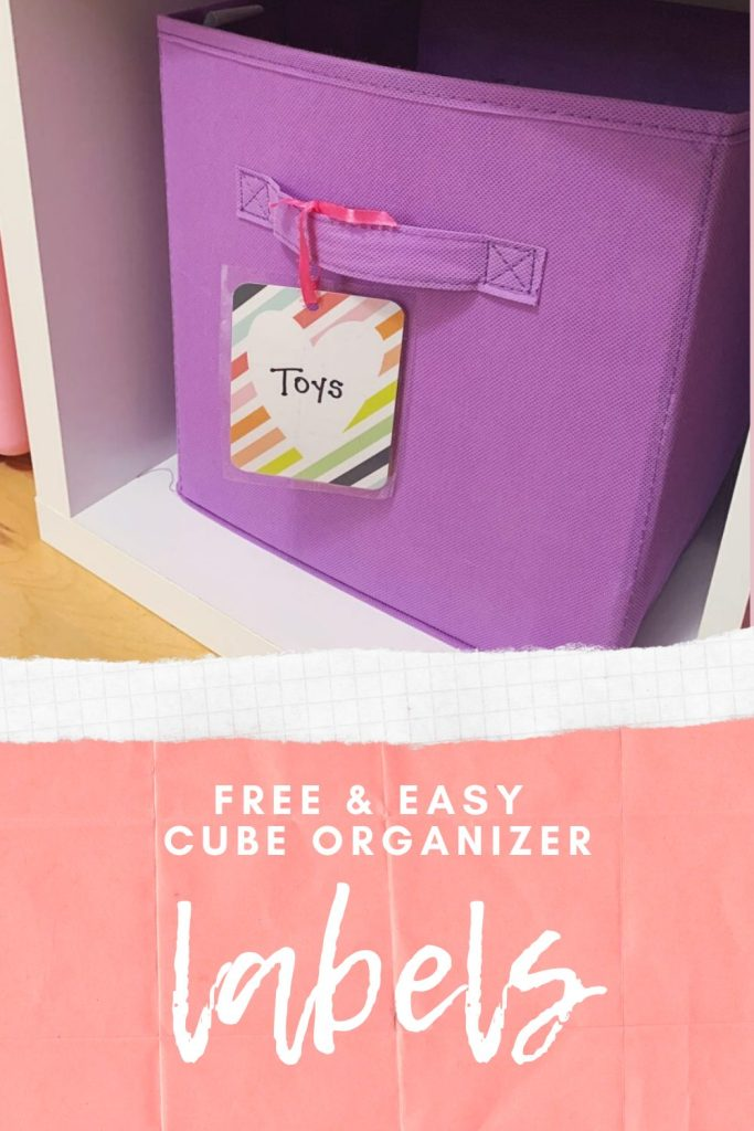 How to Make Free and Easy Cube Organizer Labels | Finding Mandee