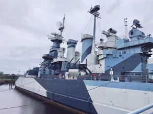 The battleship is so big you can't get the whole thing in one picture.