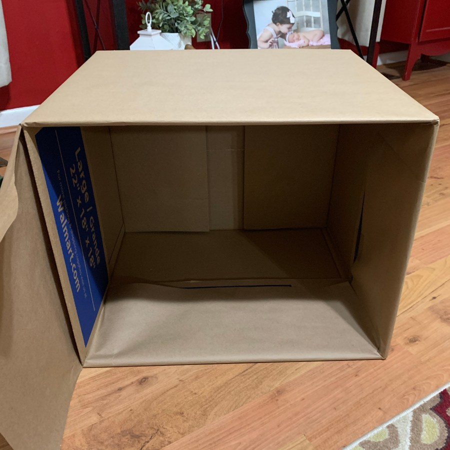 How to wrap the box for an Instagrammable moving announcement.