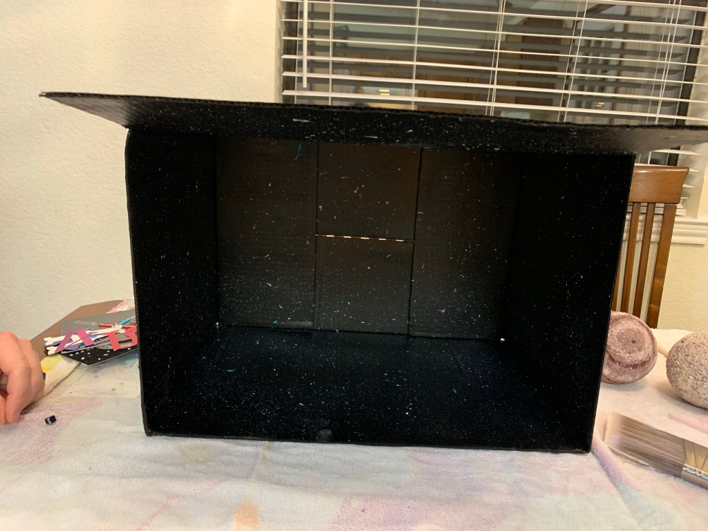 A black box ready for our solar system model.