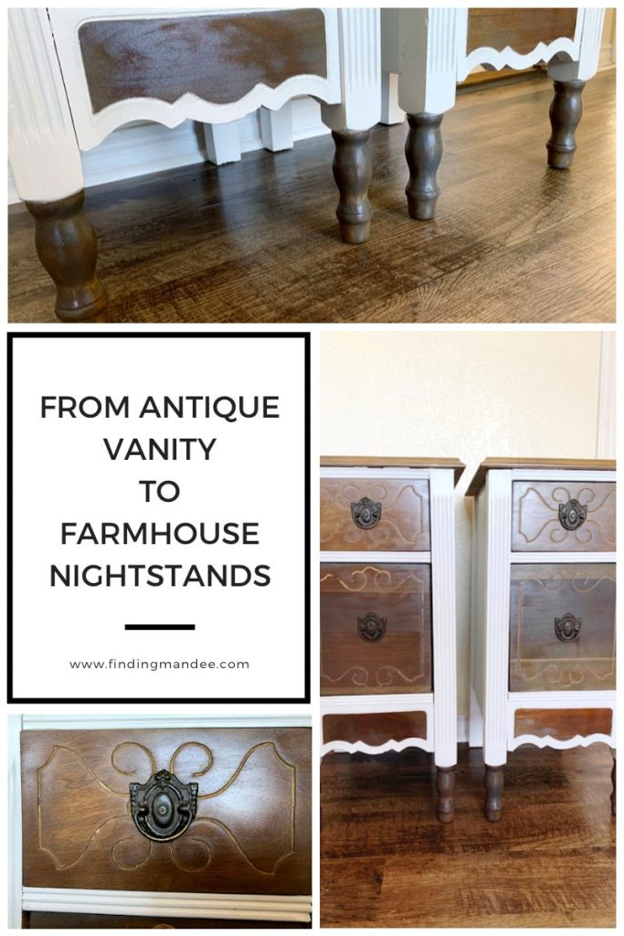 From Antique Vanity to Farmhouse DIY Nightstands   Finding Mandee