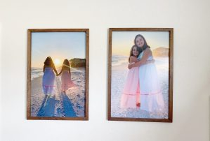 How to make your own large framed photo prints.