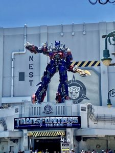 The Transformers ride at Universal Studios in Orlando.