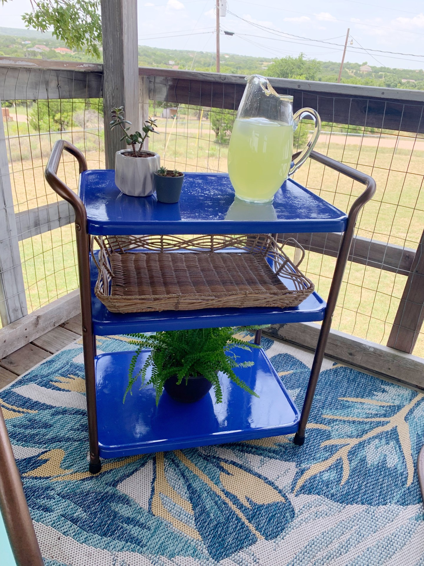 How to refurbish a vintage metal bar cart: the after pic.