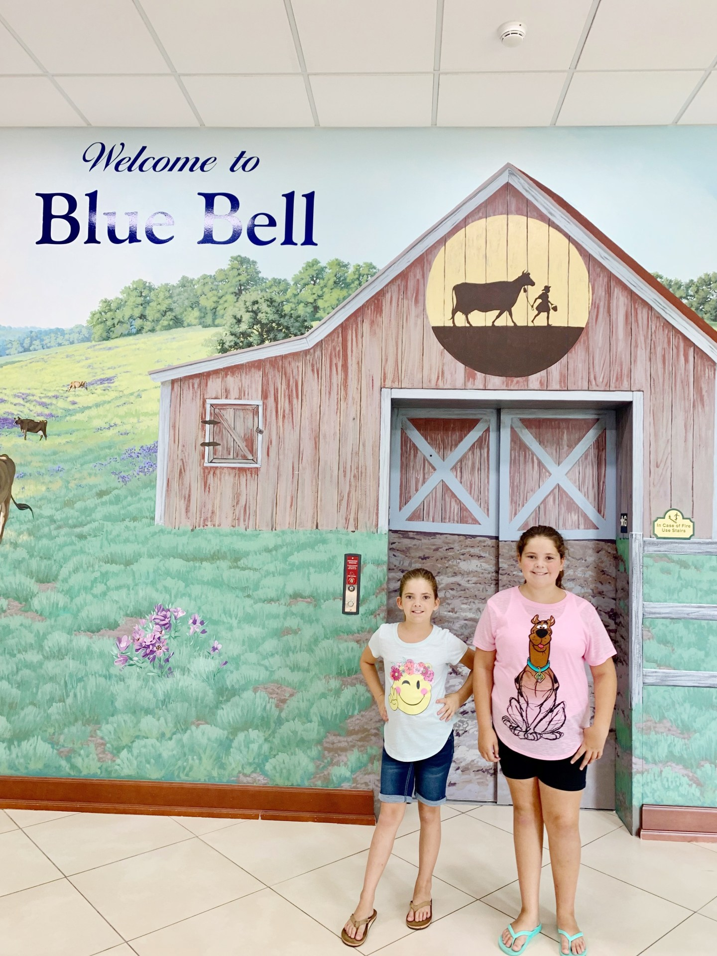 Before heading up to the Blue Bell observation deck.