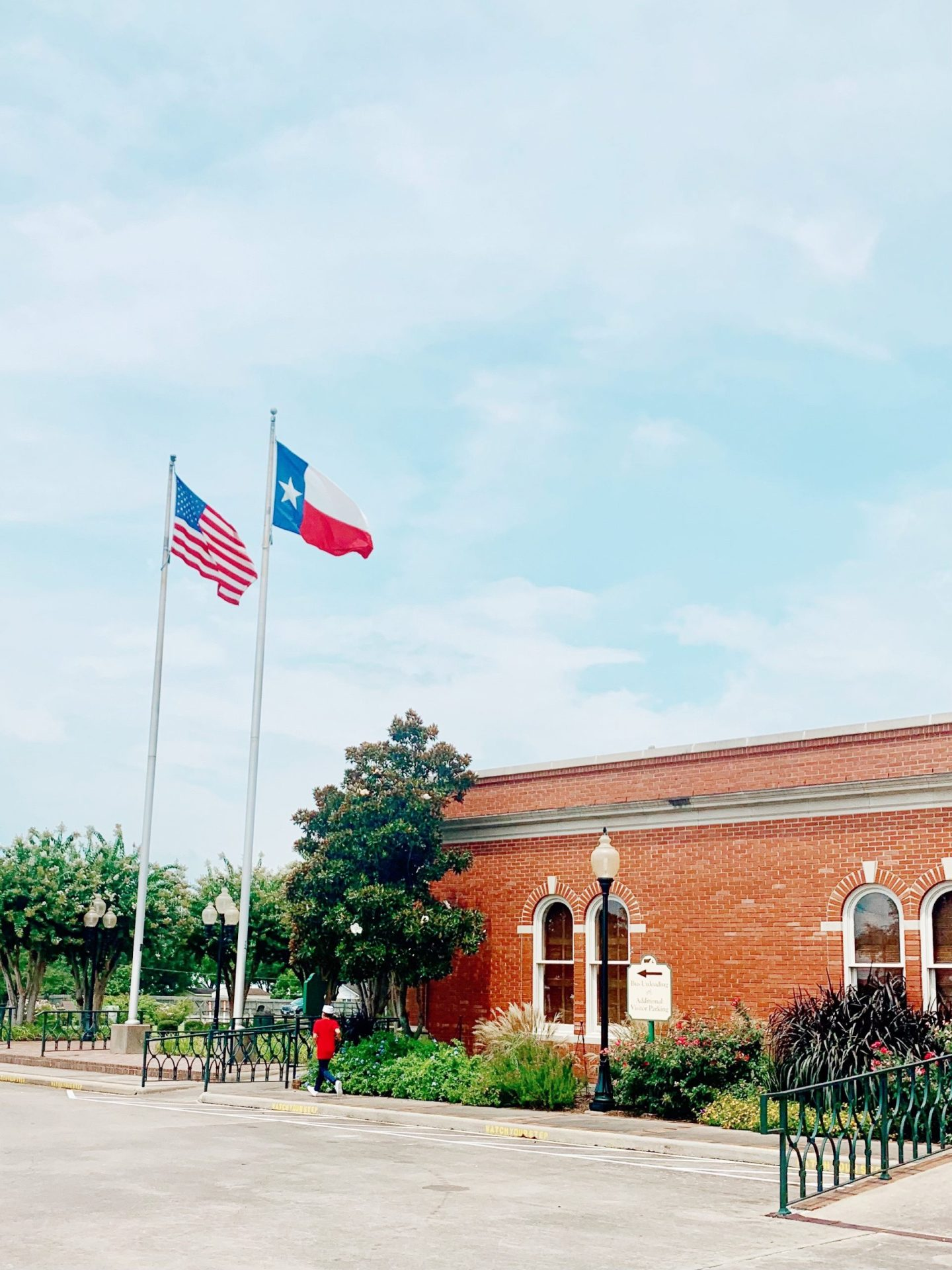 The Visitor's Center at the Blue Bell Creamery in Brenham, Texas.