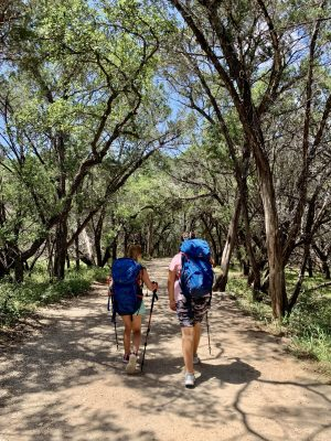 The beginning of our hike to Pedernales Falls.