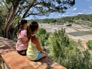 The view from the overlook on the Pedernales Falls trail.