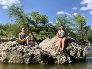 The swimming area at Pedernales Falls State Park is very rocky.