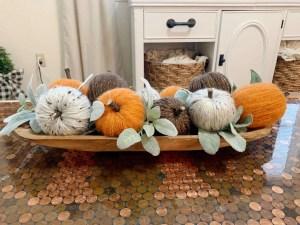 DIY Yarn-Wrapped pumpkins
