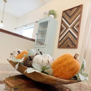 Dolla Tree Crafts: the pain in the a$$ yarn wrapped pumpkins.