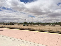 RV park viewed from train station