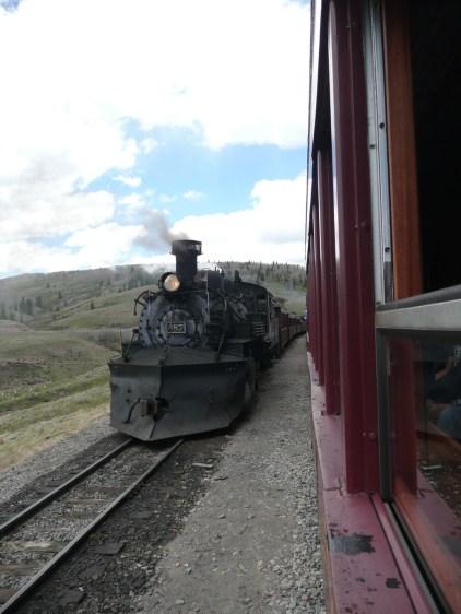 Trains meeting in Osier